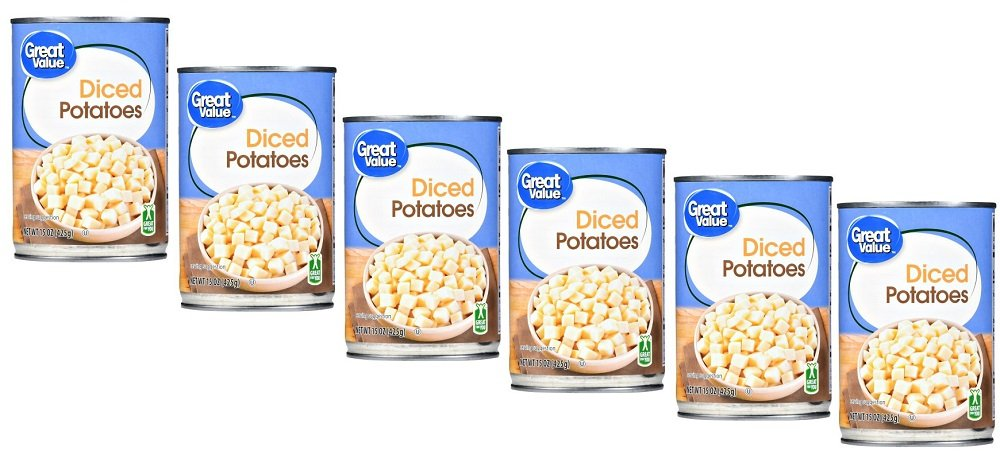 Pack of 6 - Great Value Diced New Potatoes, 15 oz
