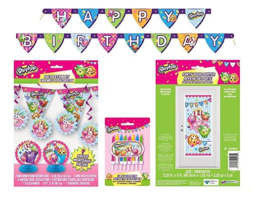 Shopkins Birthday Decorating Banners Candles