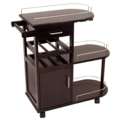 Amazon.com: Winsome Carrito de servir para cocina, Madera ...