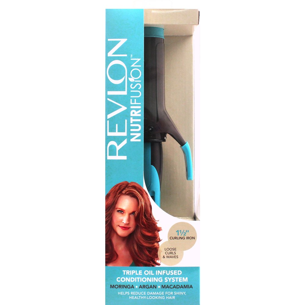 Amazon.com: Revlon Nutrifusion Conditioning Curling Iron, 1-1/2 ...