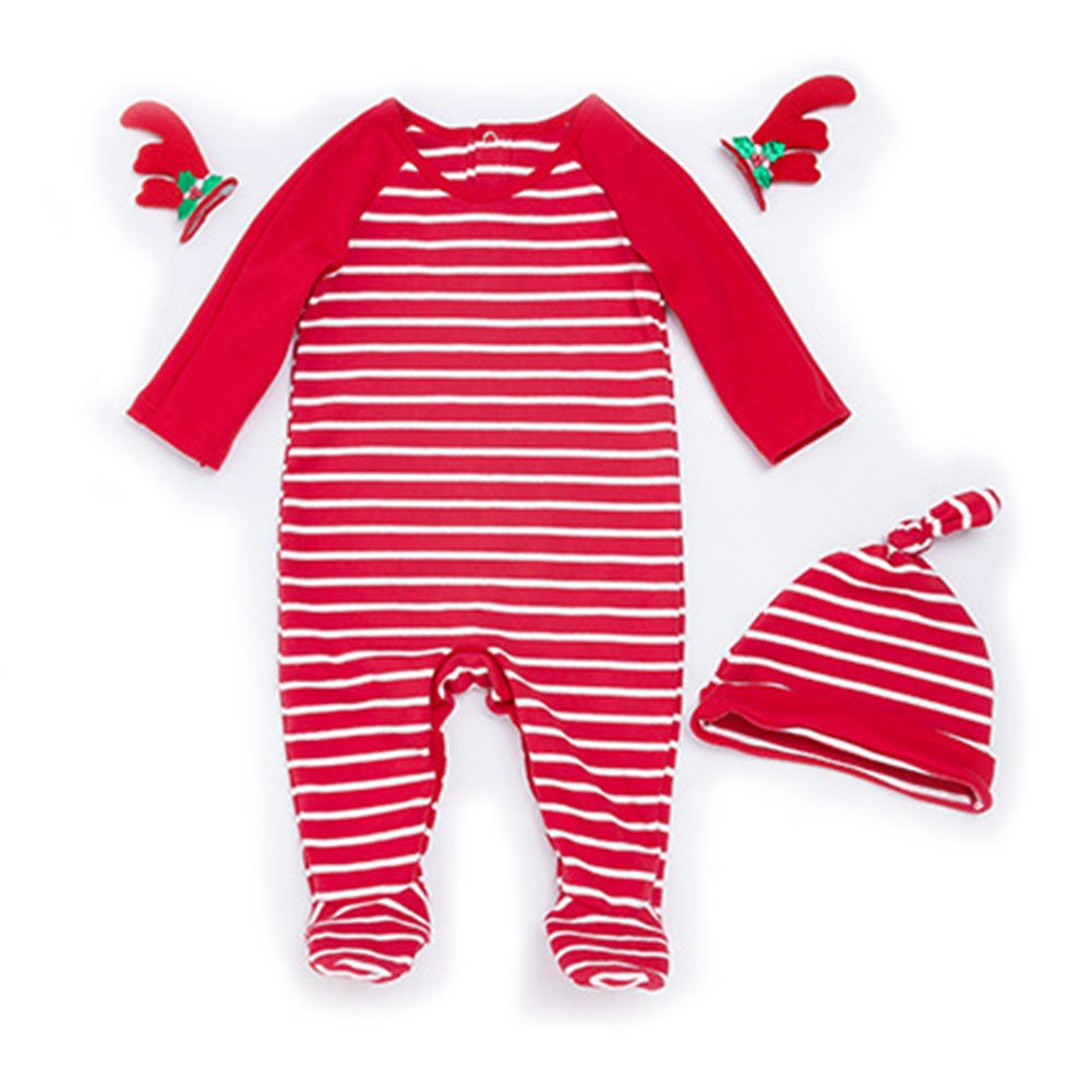 Amazon.com  LOSORN ZPY Baby Girl Stripe Pajamas Footed Sleeper Long Sleeve  Cotton Romper with Cap (Newborn-24 Months)  Clothing 3c4656ee0