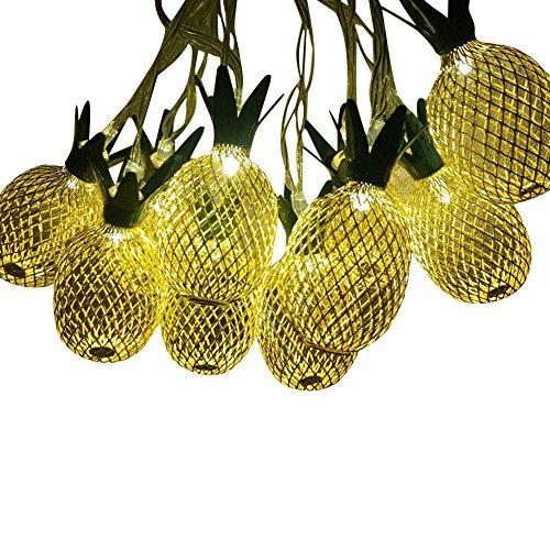 5 meter 20LED Light Bulb Gold Pineapple LED Light Bulb Solar Christma Fairy Party s Striny