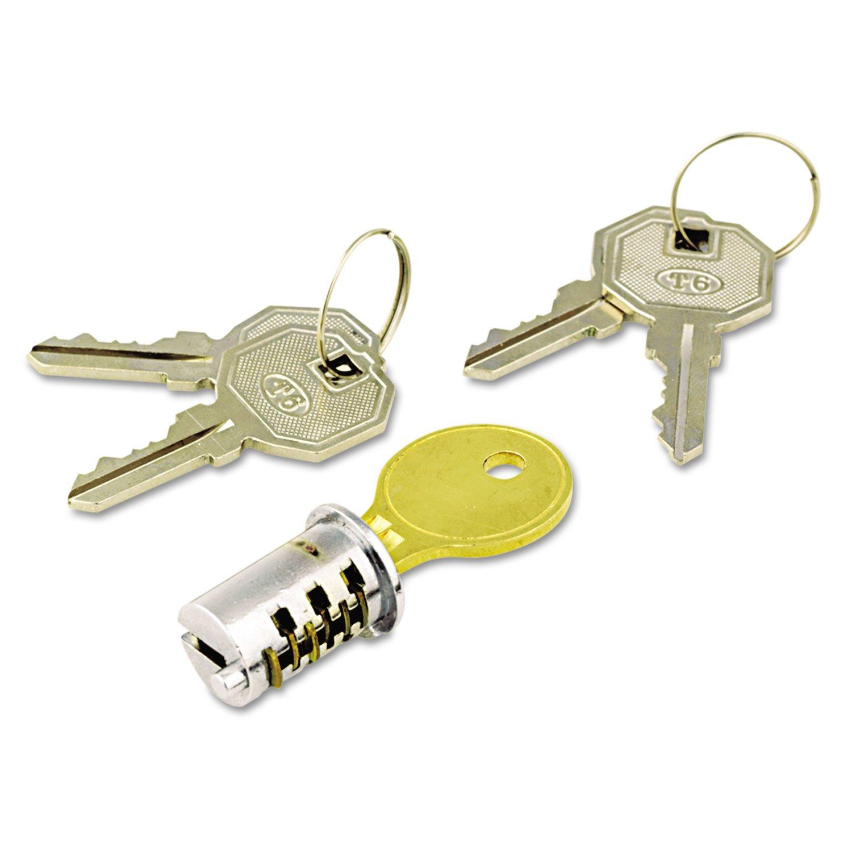 Alera KCSDLF Key-Alike Lock Core Set, Brushed Chrome