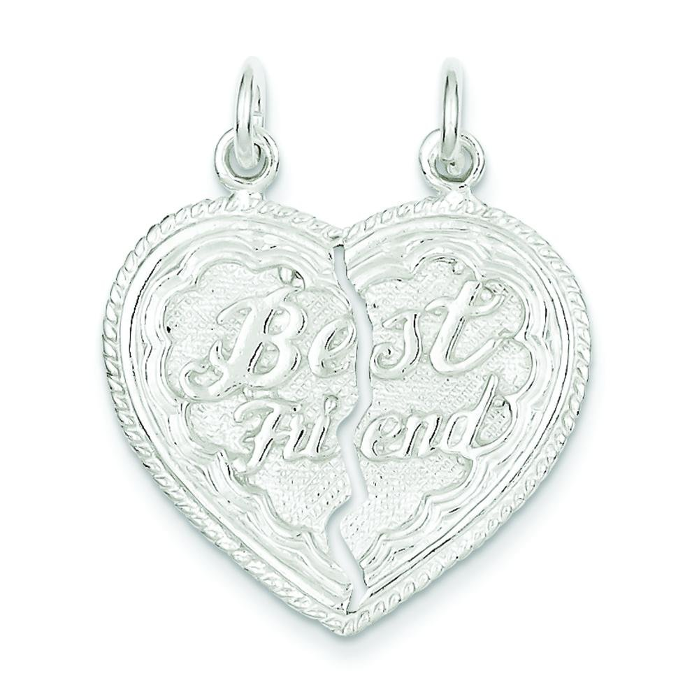 Sterling Silver Friends Always Together Charm