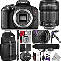Canon EOS Rebel T7i DSLR Camera with 18-135mm Lens w/ Advanced Photo and Travel Bundle