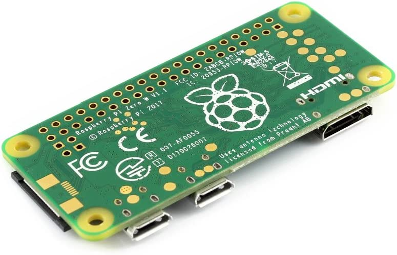 Waveshare Raspberry Pi Zero WH Built-in WiFi pre-soldered Headers Development Kit Type E Micro TF Card Power Adapter 2.13inch e-Paper HAT and Basic Components