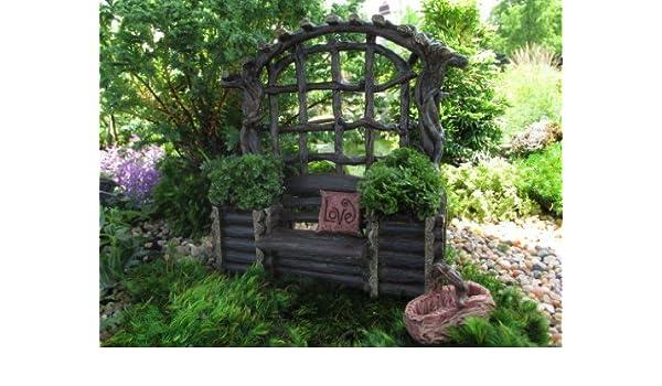 Miniatura Jardín de hadas diseño de banco con macetas: Amazon.es: Hogar