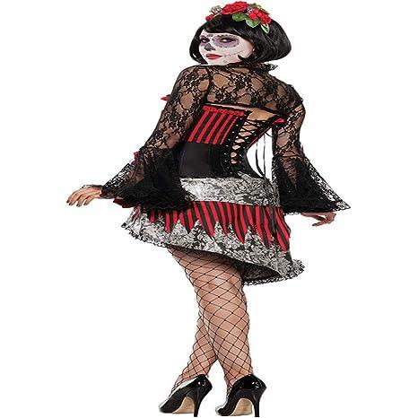 Disfraz del Día De Los Muertos Hermoso Esqueleto Adulto Fantasma ...
