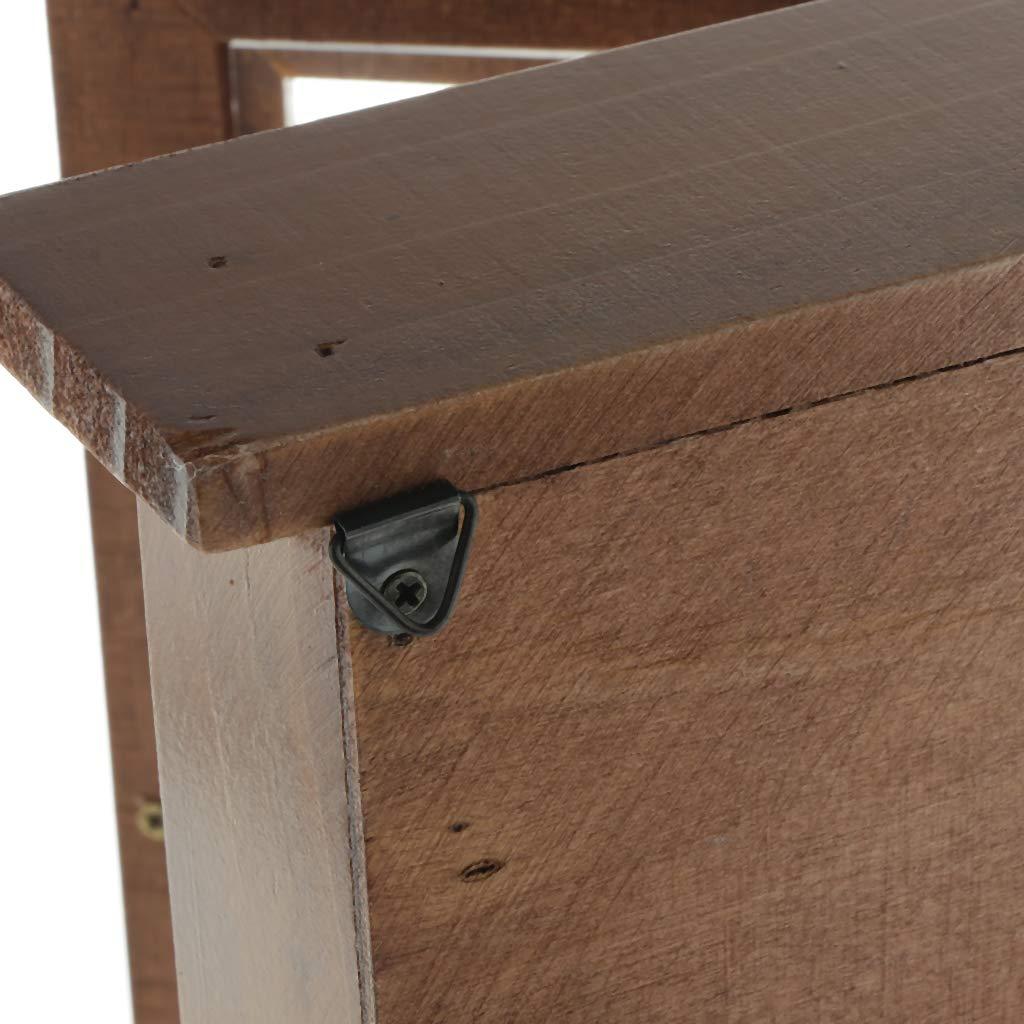 Braun Fenteer Holz Schl/üsselkasten Schl/üsselschrank Schl/üsselbox Schl/üssel Box Schrank mit 3 Haken