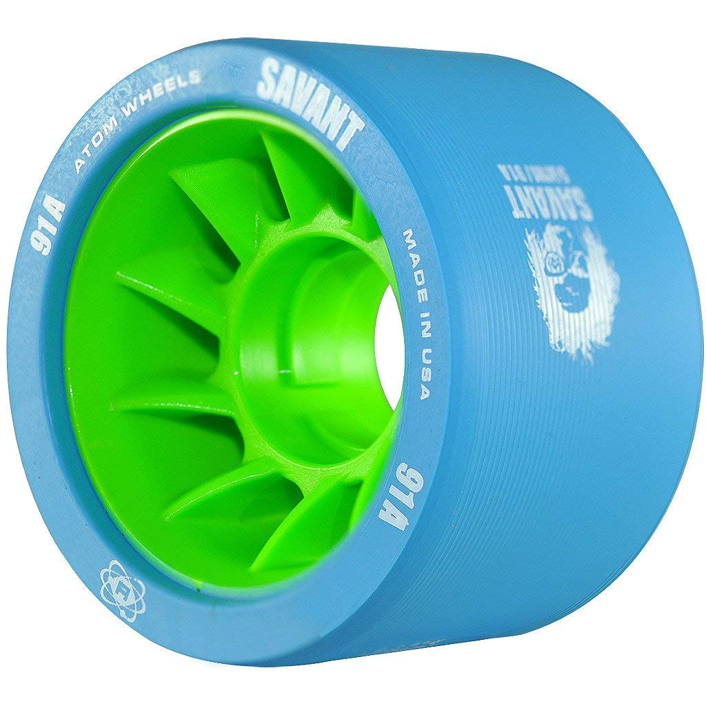 ATOM Savant Skate Wheels (Blue-91A 8 Pack) by ATOM