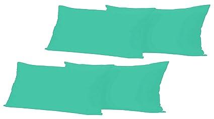 Suave microfibra – Sábana bajera (140 – 160 x 200 cm Azul para estándar colchones