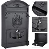tinkertonk Vintage Outdoor Lockable Post Box Large Mailbox Letter Box Mail Wall Mounted