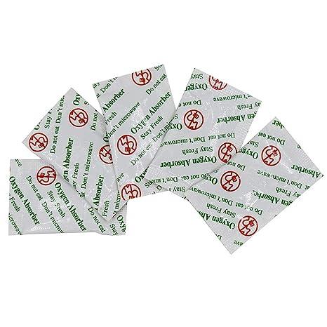 Amazon.com: 100 paquetes de absorbentes de oxígeno de grado ...
