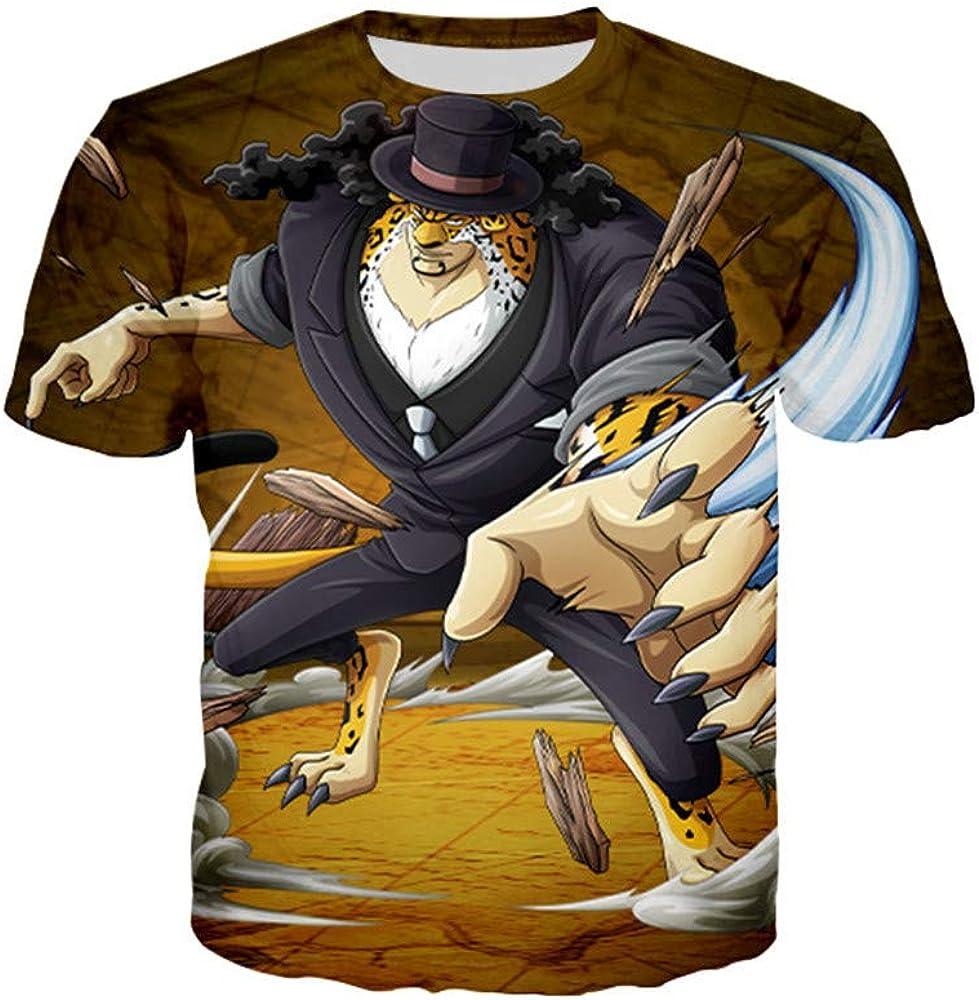GOYING Camiseta Unisex de Manga Corta One Piece Lucci Contenido: impresión 3D, Otaku, Juegos de rol, cómics, Dibujos Animados XXS: Amazon.es: Ropa y accesorios