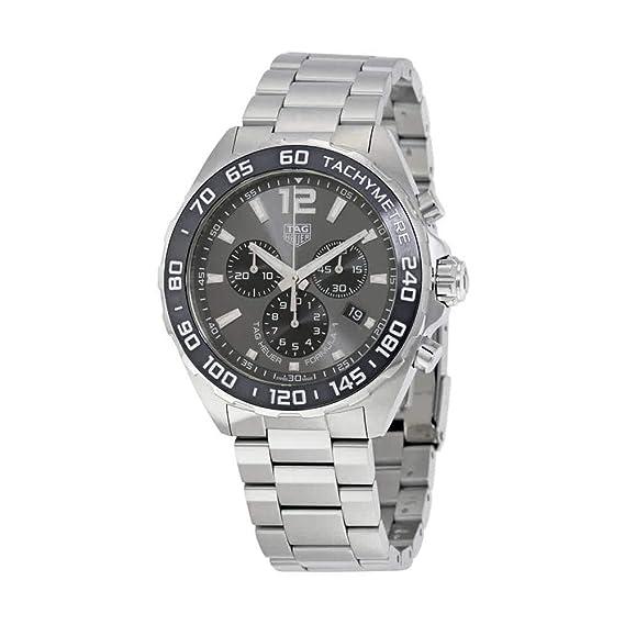 TAG HEUER FORMULA 1 RELOJ DE HOMBRE CUARZO 43MM CORREA DE ACERO CAZ1011.BA0842: TAG Heuer: Amazon.es: Relojes