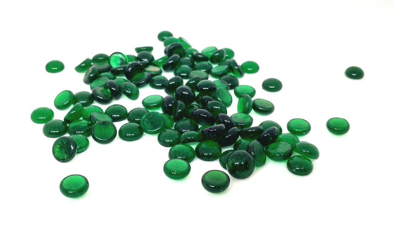 Rastogi Handicrafts Centerpieces,Glass Gems for Vase Fillers,Wedding, Decoration Pebbles 100 pcs (Green) SIZE -10 mm (1 cm)