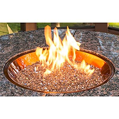 Outdoor GreatRoom 20 in. Round Burner with Glass Fire Gems