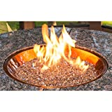 Cheap OutdoorGreatroom CF-20-BLK Round Crystal Fire Burner