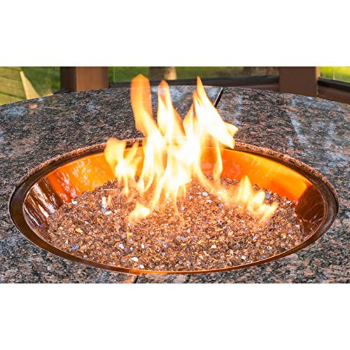 OutdoorGreatroom CF-20-BLK Round Crystal Fire Burner