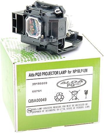Alda PQ-Premium, Lámpara de proyector Compatible con NP16LP-UM ...