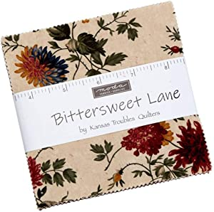 Bittersweet Lane Charm Pack by Kansas Troubles Quilters; 42-5 Inch Precut Fabric Quilt Squares