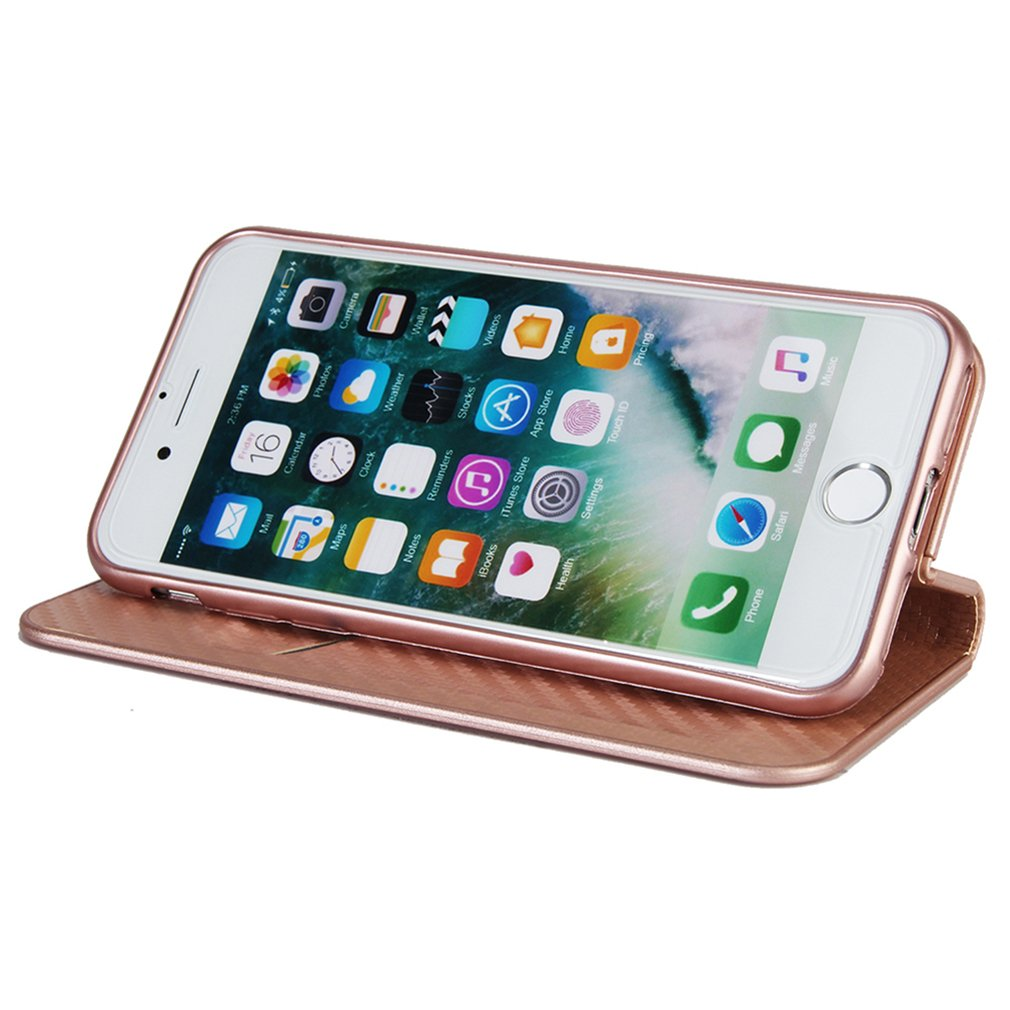 Cierre Magn/ético PU es suave iphone 6 cover iPhone 6s Funda Libro Suave Leather con Tapa Carcasa PU Leather Con TPU Silicona Case Interna Suave Case para iPhone 6 6s Oro rosa