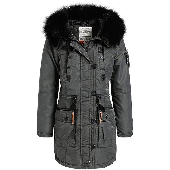 b32c780fba3203 khujo Dhalia Damen Parka Mantel Winterjacke Jacke (vegan hergestellt ...