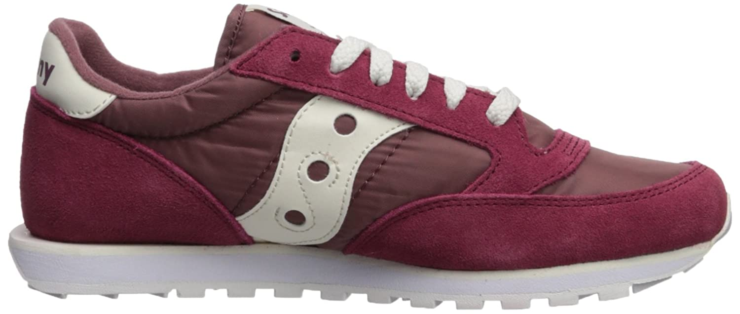 Saucony Originals Men's Jazz Low Pro Running schuhe, 8.5 Maroon Weiß, 8.5 schuhe, Medium US 4247ae