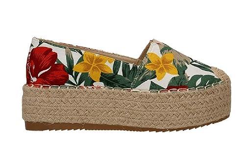 mejor autentico 3abde d2484 Alpargata Moda Yute Flores. Calzado para Primavera, Calzado ...