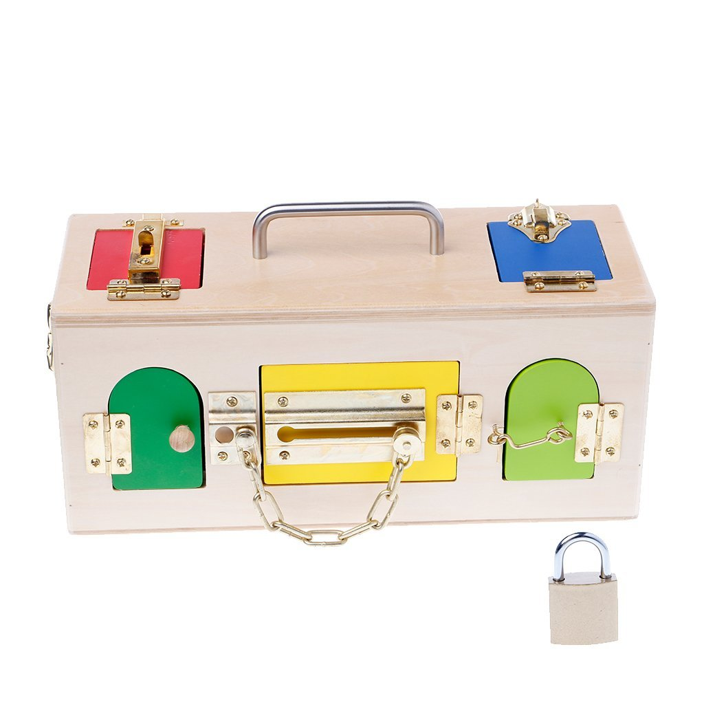 Kalttoyi Montessori Colorful Lock Box Kids Toys, Children Educational Preschool Training Toys