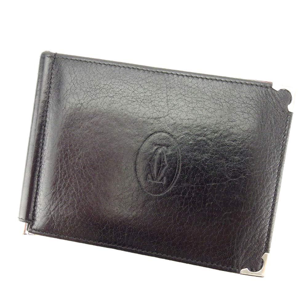 (カルティエ) Cartier 二つ折り 札入れ 二つ折り 財布 ブラック マストライン レディース メンズ 中古 T8318   B07G5CCL3F