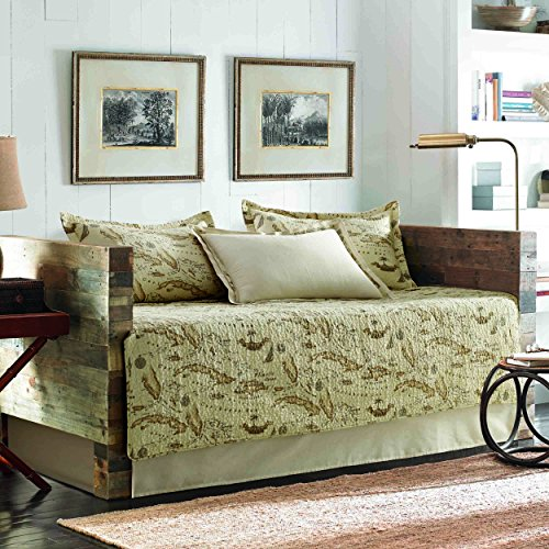 (Tommy Bahama Bahama Map Daybed Cover Set, Twin, Beige)