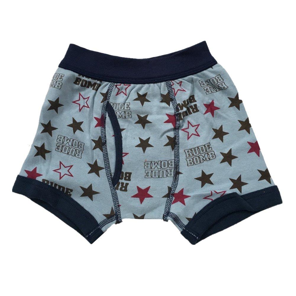 Kid Boy Boxer Briefs Baby Boy Underwear Panties Soft Cotton Star Boxer Shorts 4 Pack