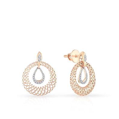 Buy Malabar Gold and Diamonds 18KT Rose Gold and Diamond Stud