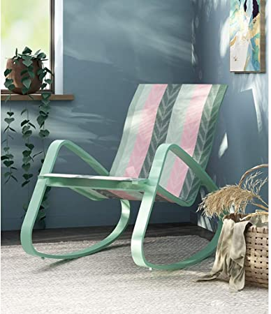 Silla de jardín minimalista, sillas al aire libre, mecedoras mecedoras mecedoras de metal para el dormitorio, sillones de la piscina, silla reclinable para sala de estar, tumbona orbital para adultos: Amazon.es: Hogar