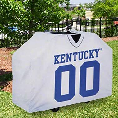 NCAA Kentucky Wildcats White Jersey BBQ Grill Cover