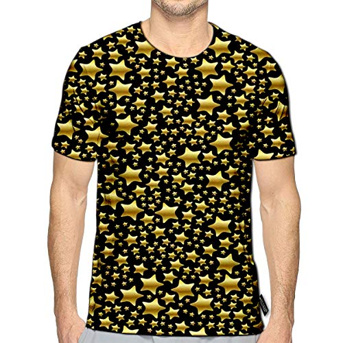 T-Shirt 3D Printed Material Glitter Sparkle Stardust Starburst Universe Milky Way Casual Tees e