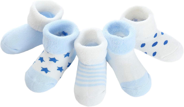Offerta – Adorel Calzini Invernali in Spugna Cotone per Bambino Confezione da 5,