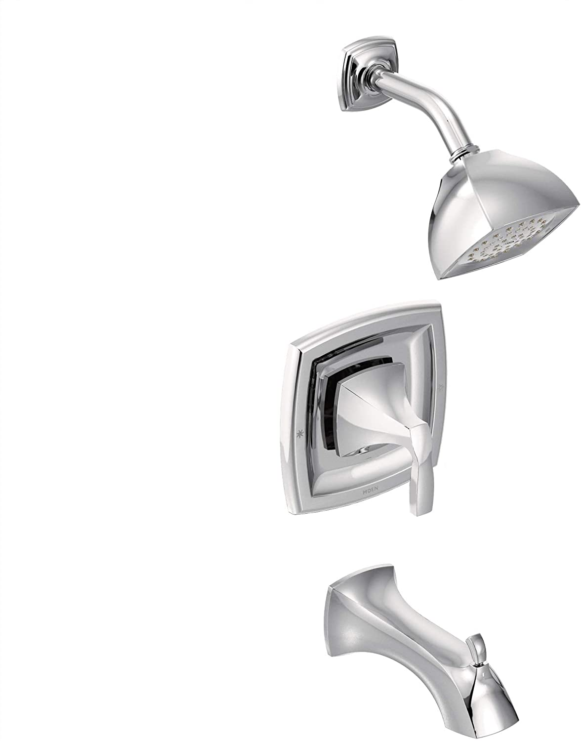 Moen T2693EP Voss Posi-Temp Pressure Balancing Eco-Performance Tub and Shower Trim Kit, Valve Required, Chrome
