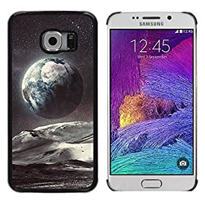 iKiki Tech / Estuche rígido - Planet Earth Space Art Stars Cosmos - Samsung Galaxy S6 EDGE SM-G925