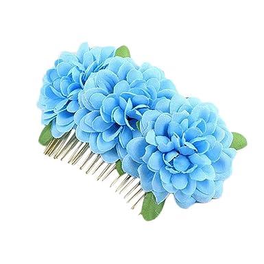 Dqaniu 1 Stück Frauen Braut Blume Haar Kamm