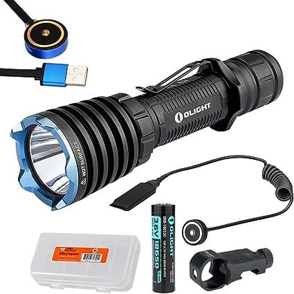 Magnetic Remote Pressure Switch Bundle Olight Warrior X Tactical LED Flashlight