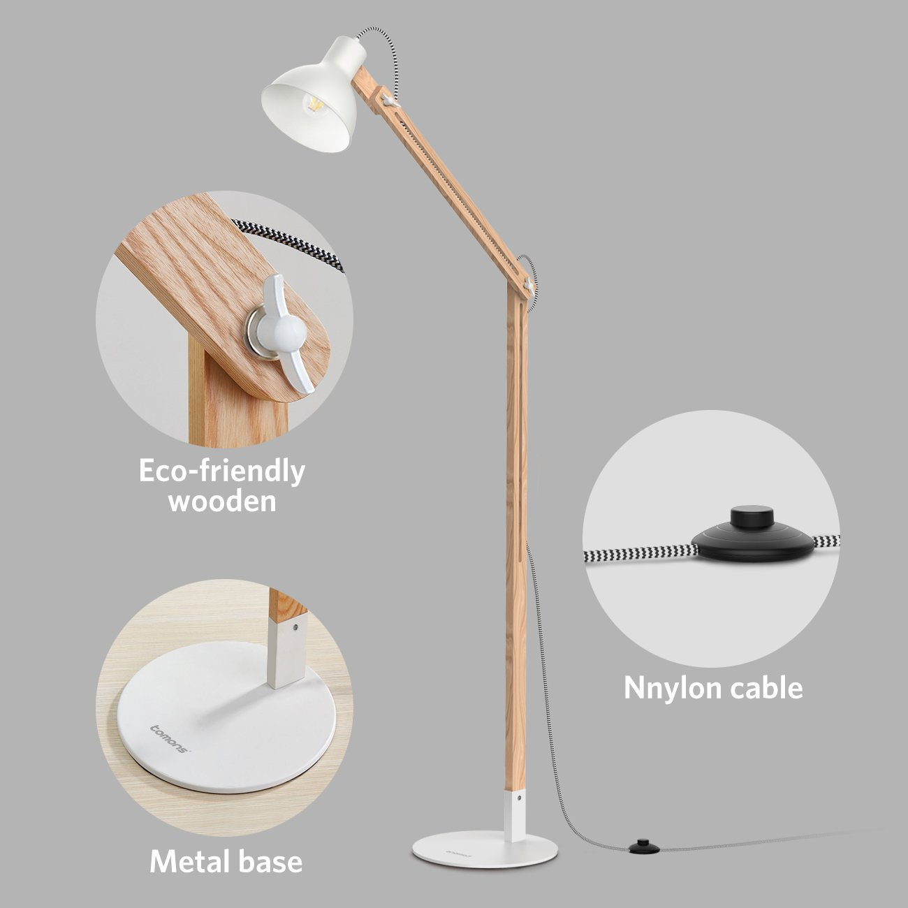c0e029f577de Store Home Our Feedback Ask a Question. Product Description. 【Classic Style】Tomons  floor lamp ...