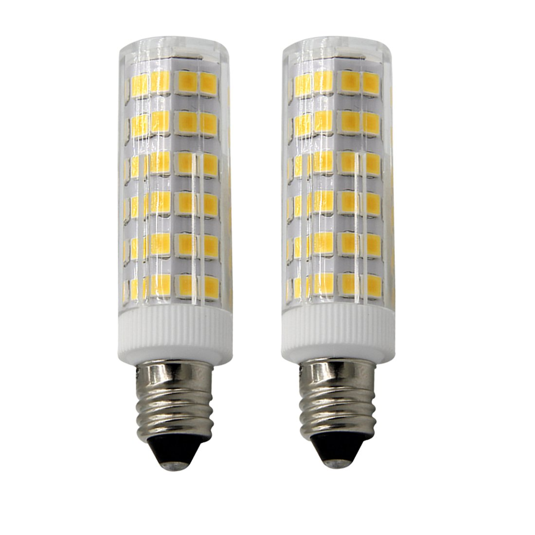 55-Watt T4 E11 Halogen Bulb Pack of 2 Replaces T4 //T3 JD Type Clear E11 Light Bulb xiaominilight E11 LED Bulbs-Mini Candelabra Base 120 Volt,Soft White