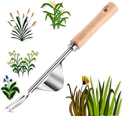 YUBRO Manual Weed Digger Hand Tool for Dandelion Plantain