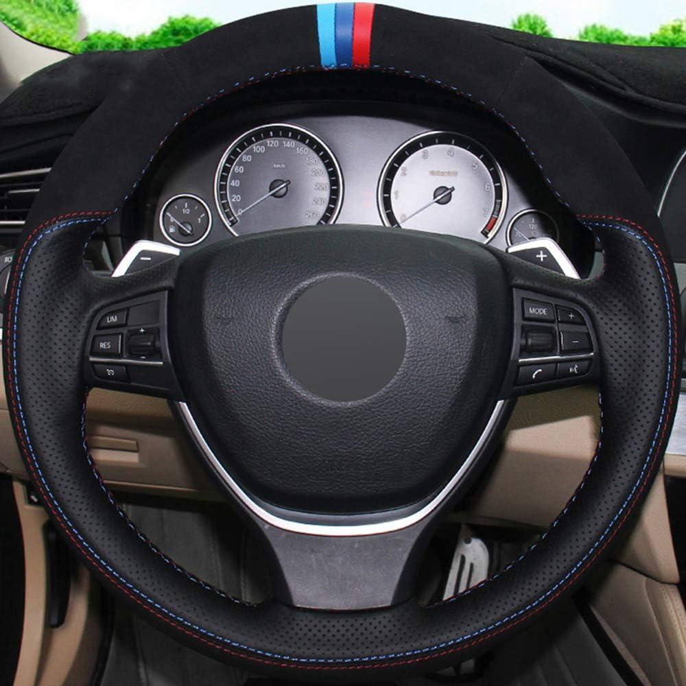 JIANGJUNCHE F/ür Schwarz DIY Auto Lenkradbezug f/ür BMW F10 2014 520i 528i 2013 2014 730Li 740Li 750Li