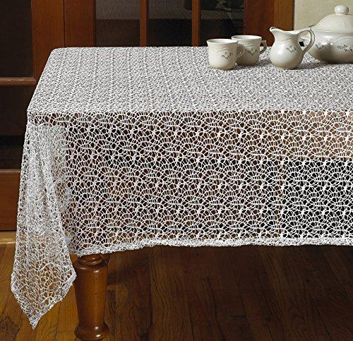 Violet Linen Luxurious Crochet Classic Vintage Tablecloths, 60