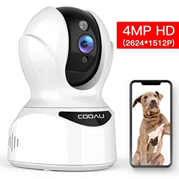 Amazon.com: COOAU Cámara de seguridad para el hogar de 4 MP ...
