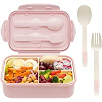 Bento Boxes for Adults - 1400 ML Bento Lunch Box For Kids Childrens With Spoon and Fork - Durable, Leak-Proof for On-the…
