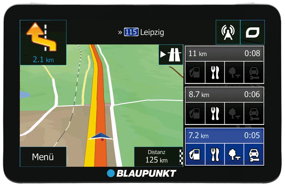 Blaupunkt TravelPilot 73² CE LMU - Navigationssystem mit 17,5 cm (7 Zoll) Display, Kartenmaterial Zentraleuropa, lebenslange Karten-Updates*, TMC Stauumfahrung 1091234014